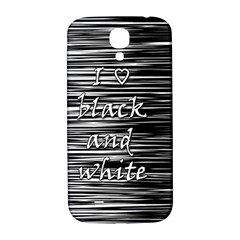 I love black and white Samsung Galaxy S4 I9500/I9505  Hardshell Back Case