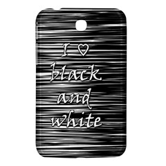 I love black and white Samsung Galaxy Tab 3 (7 ) P3200 Hardshell Case