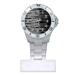 I love black and white Plastic Nurses Watch
