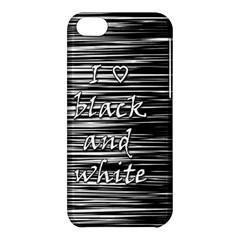 I love black and white Apple iPhone 5C Hardshell Case