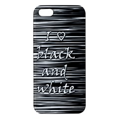 I love black and white iPhone 5S/ SE Premium Hardshell Case