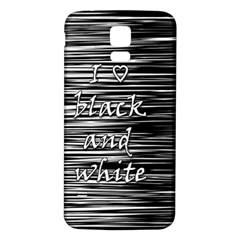 I love black and white Samsung Galaxy S5 Back Case (White)
