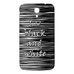 I love black and white Samsung Galaxy Mega I9200 Hardshell Back Case