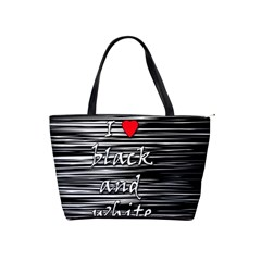 I Love Black And White 2 Shoulder Handbags by Valentinaart