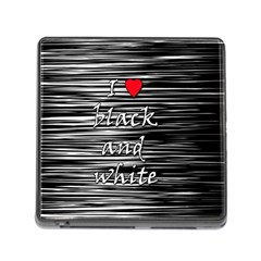 I love black and white 2 Memory Card Reader (Square)