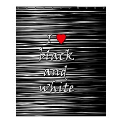 I Love Black And White 2 Shower Curtain 60  X 72  (medium)  by Valentinaart