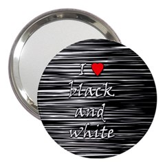 I Love Black And White 2 3  Handbag Mirrors by Valentinaart