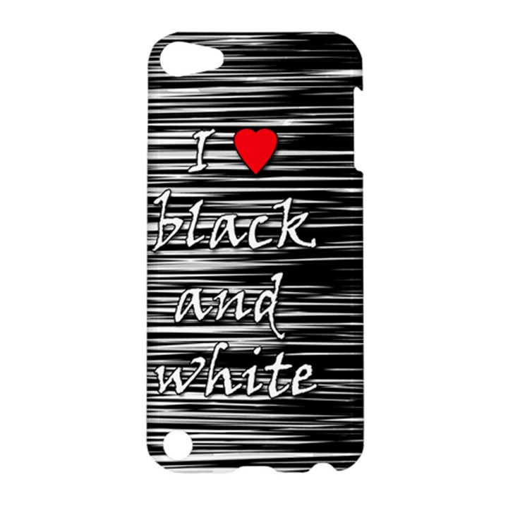 I love black and white 2 Apple iPod Touch 5 Hardshell Case