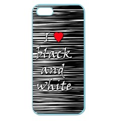 I love black and white 2 Apple Seamless iPhone 5 Case (Color)