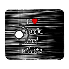 I Love Black And White 2 Samsung Galaxy S  Iii Flip 360 Case by Valentinaart