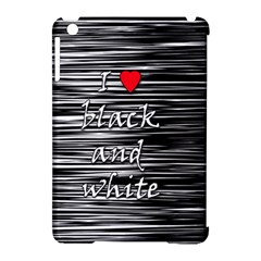 I love black and white 2 Apple iPad Mini Hardshell Case (Compatible with Smart Cover)