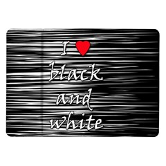 I love black and white 2 Samsung Galaxy Tab 10.1  P7500 Flip Case
