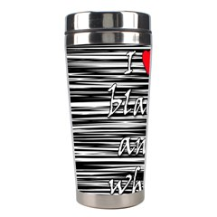 I love black and white 2 Stainless Steel Travel Tumblers