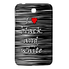 I Love Black And White 2 Samsung Galaxy Tab 3 (7 ) P3200 Hardshell Case  by Valentinaart
