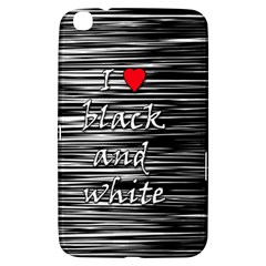 I love black and white 2 Samsung Galaxy Tab 3 (8 ) T3100 Hardshell Case