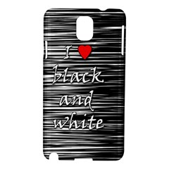 I love black and white 2 Samsung Galaxy Note 3 N9005 Hardshell Case