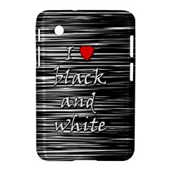 I love black and white 2 Samsung Galaxy Tab 2 (7 ) P3100 Hardshell Case