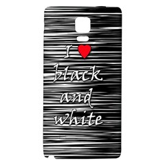 I love black and white 2 Galaxy Note 4 Back Case