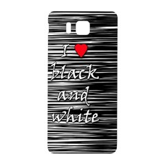 I love black and white 2 Samsung Galaxy Alpha Hardshell Back Case