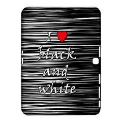 I love black and white 2 Samsung Galaxy Tab 4 (10.1 ) Hardshell Case