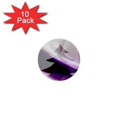 Purple Christmas Tree 1  Mini Buttons (10 pack)