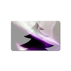 Purple Christmas Tree Magnet (Name Card)
