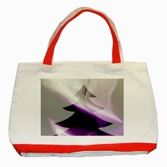 Purple Christmas Tree Classic Tote Bag (Red)