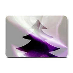 Purple Christmas Tree Small Doormat  by yoursparklingshop