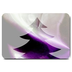 Purple Christmas Tree Large Doormat  by yoursparklingshop