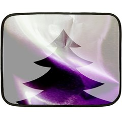 Purple Christmas Tree Double Sided Fleece Blanket (mini)  by yoursparklingshop