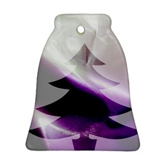 Purple Christmas Tree Bell Ornament (2 Sides)