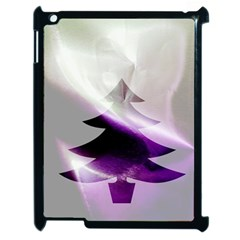 Purple Christmas Tree Apple Ipad 2 Case (black) by yoursparklingshop