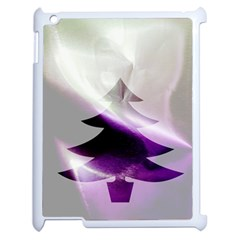 Purple Christmas Tree Apple Ipad 2 Case (white) by yoursparklingshop