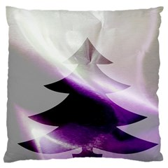Purple Christmas Tree Large Cushion Case (two Sides) by yoursparklingshop