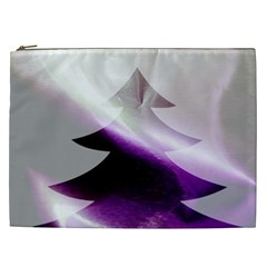 Purple Christmas Tree Cosmetic Bag (xxl)  by yoursparklingshop