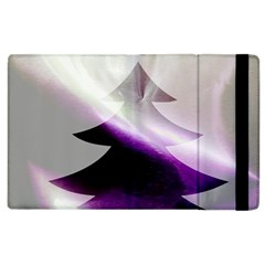 Purple Christmas Tree Apple Ipad 3/4 Flip Case by yoursparklingshop