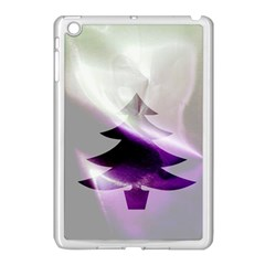 Purple Christmas Tree Apple Ipad Mini Case (white) by yoursparklingshop