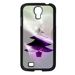 Purple Christmas Tree Samsung Galaxy S4 I9500/ I9505 Case (black) by yoursparklingshop