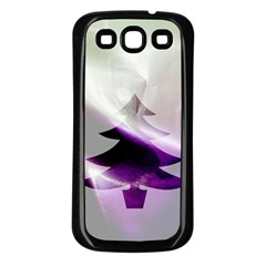 Purple Christmas Tree Samsung Galaxy S3 Back Case (black) by yoursparklingshop