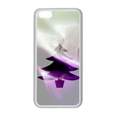 Purple Christmas Tree Apple Iphone 5c Seamless Case (white) by yoursparklingshop
