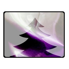 Purple Christmas Tree Double Sided Fleece Blanket (small)  by yoursparklingshop