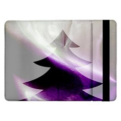Purple Christmas Tree Samsung Galaxy Tab Pro 12 2  Flip Case by yoursparklingshop