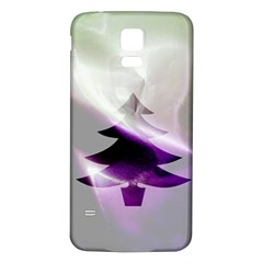 Purple Christmas Tree Samsung Galaxy S5 Back Case (White)
