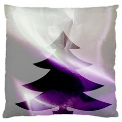 Purple Christmas Tree Large Flano Cushion Case (one Side) by yoursparklingshop
