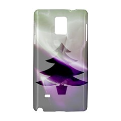 Purple Christmas Tree Samsung Galaxy Note 4 Hardshell Case by yoursparklingshop