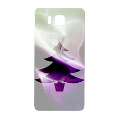 Purple Christmas Tree Samsung Galaxy Alpha Hardshell Back Case by yoursparklingshop