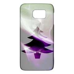 Purple Christmas Tree Galaxy S6 by yoursparklingshop
