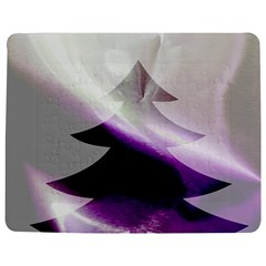 Purple Christmas Tree Jigsaw Puzzle Photo Stand (Rectangular)