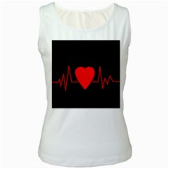 Hart bit Women s White Tank Top