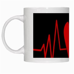 Hart bit White Mugs